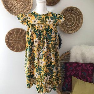 Who What Wear Girly Floral Ruffled Mini Dress